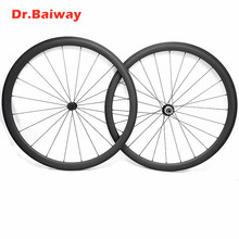 цена на 700c carbon fiber wheels 60*25mm Tubular UD/3K/12K road bike wheels V brake road carbon wheelset Powerway R13 hub 100*9 130*9mm