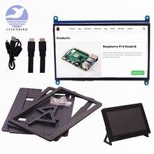 7 дюймов Raspberry Pi 3 Model B + ЖК-дисплей Дисплей сенсорный Экран ЖК-дисплей 1024*600 HDMI TFT монитор + держатель чехол для Raspberry Pi 3