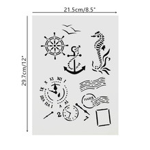 A4 Size DIY Craft Art Stencil Template For Wall Painting Scrapbooking Stamping Photo Album Decor Embossing Cards 15 15cm diy craft art stencil template for wall tile painting scrapbooking stamping album decor embossing card