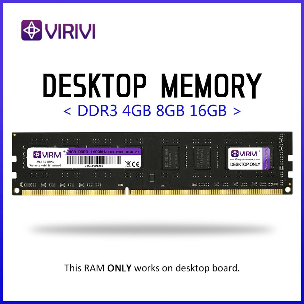 Desktop Ram VIRIVI  DDR3 4GB 8GB 1333 1600 1866MHz  Desktop Memory 240pin 1.5V New Dimm Core Cpu PC Motherboard Kit