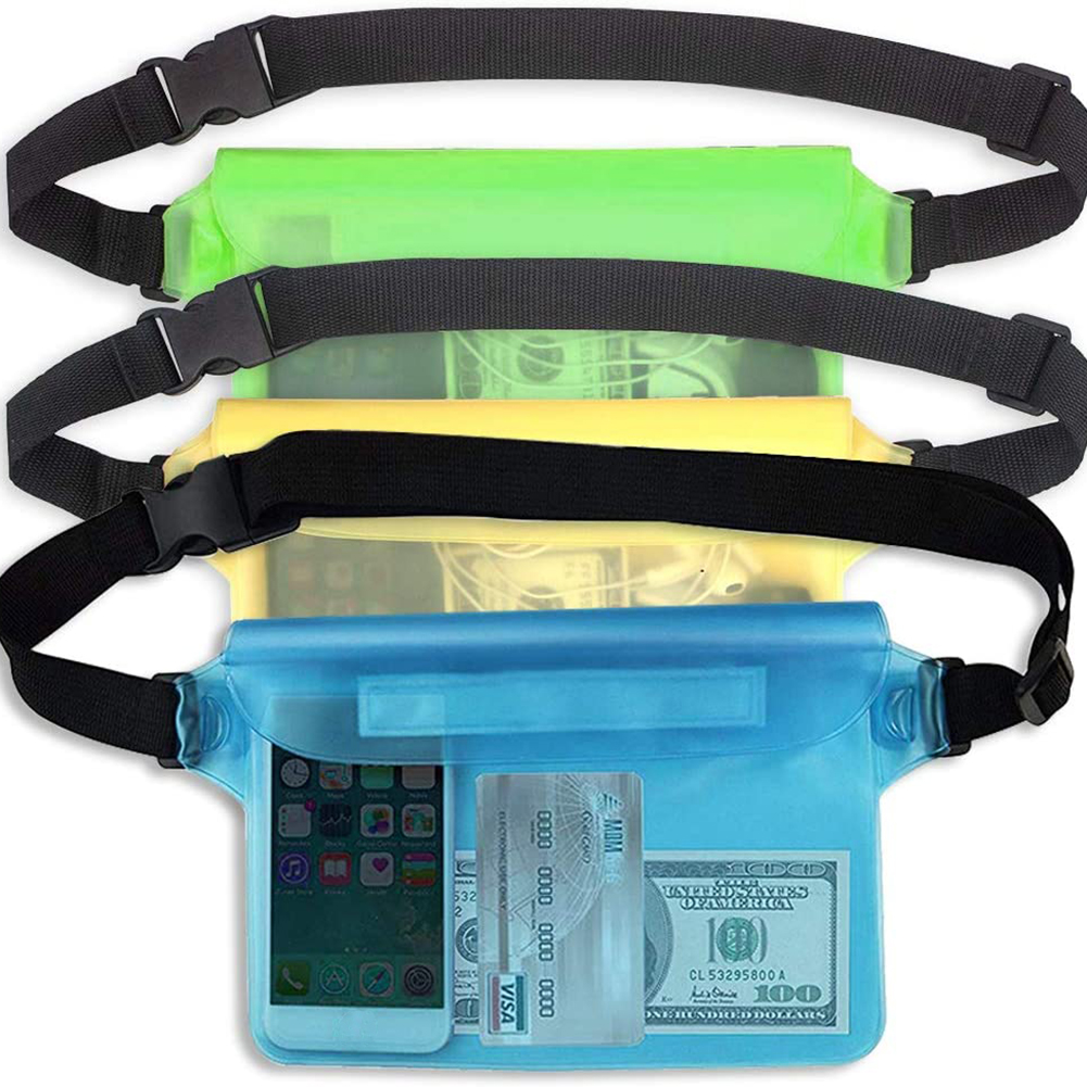 Outdoor Beach Waist Bag Waterproof PVC Running Touch Screen Mobile Phone Pouch Swimming Portable Outdoor Elements