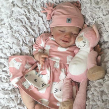 Rbg kit renascer bebê kit de vinil 20 polegadas abril unpainted inacabado boneca peças diy em branco reborn kit de boneca de vinil