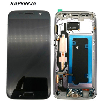 5.1Super AMOLED LCD Display For Samsung Galaxy S7 G930 G930F G930A LCD Display Touch Screen Digitizer Assembly аксессуар чехол samsung galaxy s7 g930f mofi vintage black 15104