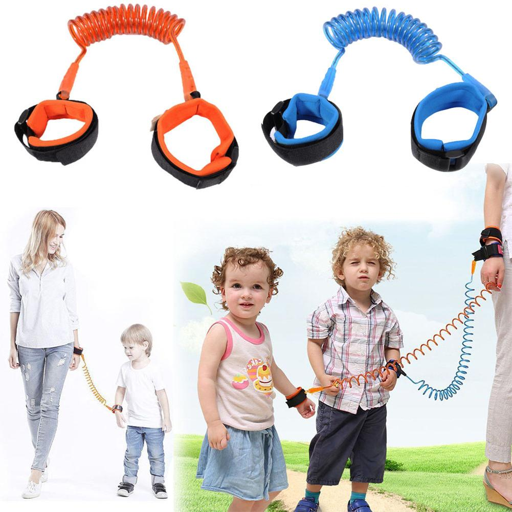 1.5/2/2.5m Adjustable Children Kids Safety Anti-lost Wrist Link Band Bracelet Wristband Secure For Baby Belt Harness Strap Rope
