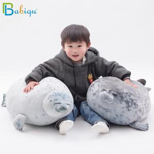 Image 3 - Soft 20 80cm Soft Sea Lion Plush Toys Sea World Animal Seal Baby Sleeping Pillow Plush Stuffed Doll Kids Girls Birthday Gifts
