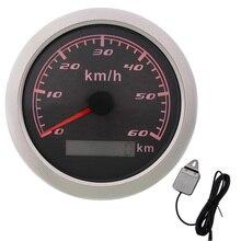 85 мм цифровой GPS измеритель скорости 30-200 км/ч измеритель скорости одометр Универсальный Автомобильный датчик скорости с GPS антенной