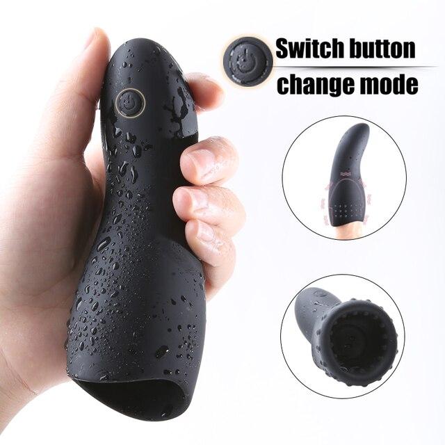 10 Modes Glans Vibrator Penis Massager Exerciser 2 Type Male Masturbator Ejaculation Delay Last Trainer Adult Sex Toys for Men 1