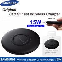 Original Samsung Schnelle Drahtlose Ladegerät Stand Für Galaxy S20 10 S9 S8 Plus S7 Note10 + 9 /iPhone 11 8 Plus X, 15W Qi Pad EP-P1100
