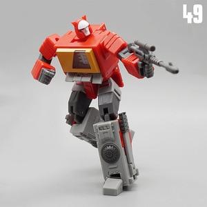 Image 2 - MFT Transformation MF 49 MF49 Blaster Emitter Recorder Model Pocket War MechFans Action Mini Figure Robot Toys 12cm with box