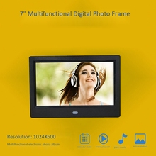 Digital Picture Frame 7 Inch Mult-Media Player MP3 MP4 Alarm Clock Wall Mountable with Infrared Remote Control