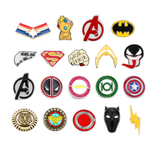 Marvel Avengers Endgame Brooches Comics Captain American Thanos Infinity Gauntle Pin Badge Cosplay Jewelry Gifts