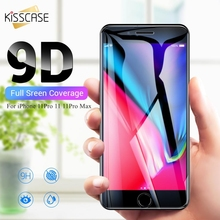 KISSCASE Protective Tempered Glass For iPhone 11Pro 11 MAX Screen Protector 7 6 6S X XS XR 8