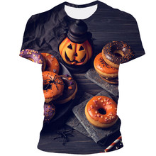 2021 New Pumpkin Festival Western Festival 3d Printing And Dyeing T-shirt Men's Women Couple Shirts Lightweight Breathable Short