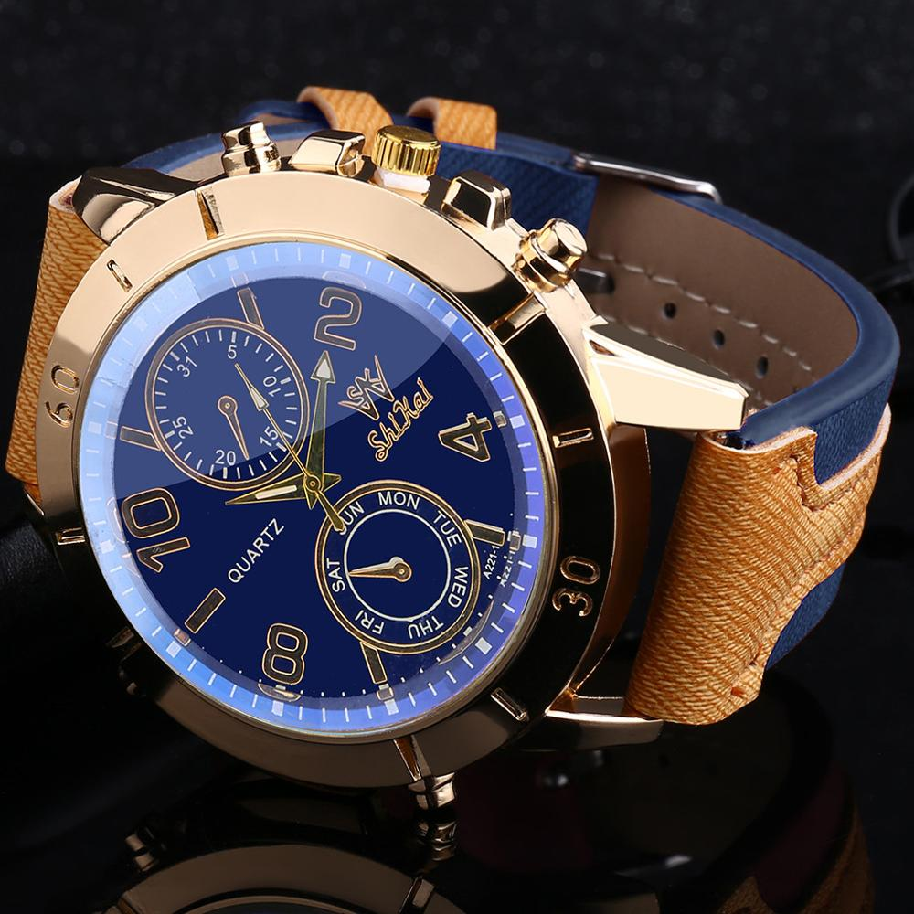 Men Gold Luxury Brand Quartz Wrist Watch Full High Quality Stainless Steel Waterproof Men's Dress Watches Relogio Feminino