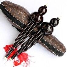 Китайский Хулуси традиционный инструмент черная Тыква кукурбит флейта для начинающих музыкальным энтузиастом подарок