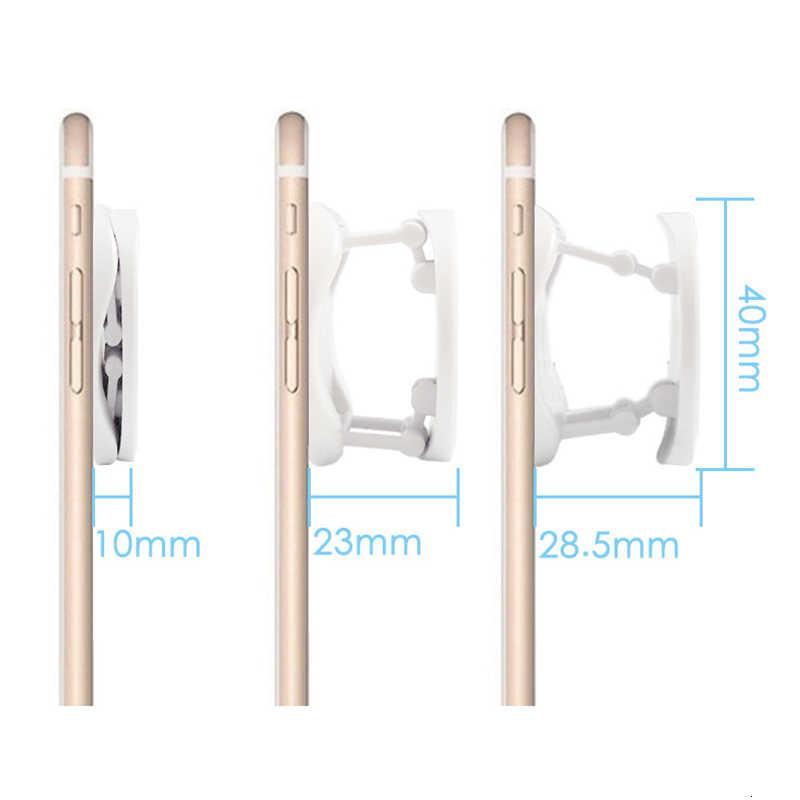Murni Putih dan Hitam Soket Pemegang Telepon Singkat Memperluas Berdiri dan Pegangan Попсокет Univeral Socket 2 Warna