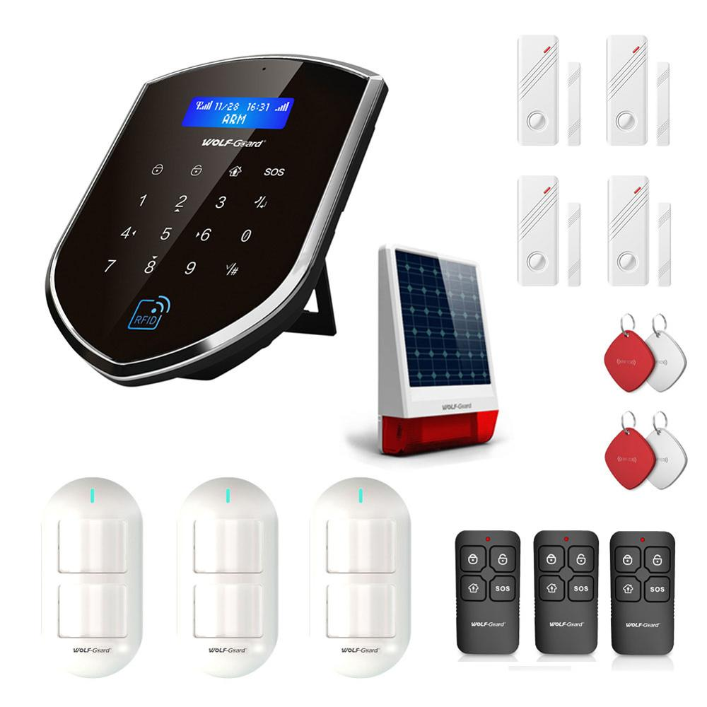 Wolf Guard WM2GR GSM Wifi Wireless Home Security Alarm System DIY Kit APP Control Motion Detector Sensor Burglar Alarm System|Alarm System Kits| |  - title=