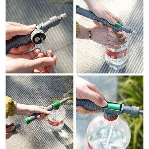 Image 5 - Verstelbare Trolley Spuitpistool Sprinkler Hoge Druk Luchtpomp Handmatige Spuit Drink Fles Sproeikop Mondstuk Tuin Besproeien