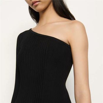 2020 Spring/summer New Strapless Dress with Slit Ribbed Sexy Waist and Slim Knit Dress Casual Dresses Black Dress  Women Dress 4