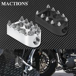 Motorcycle Gear Shift Brake Pedals Foot Peg Black/Chrome For Harley Sportster XL 883 Touring FLHR Dyna Street Bob Fatboy Softail