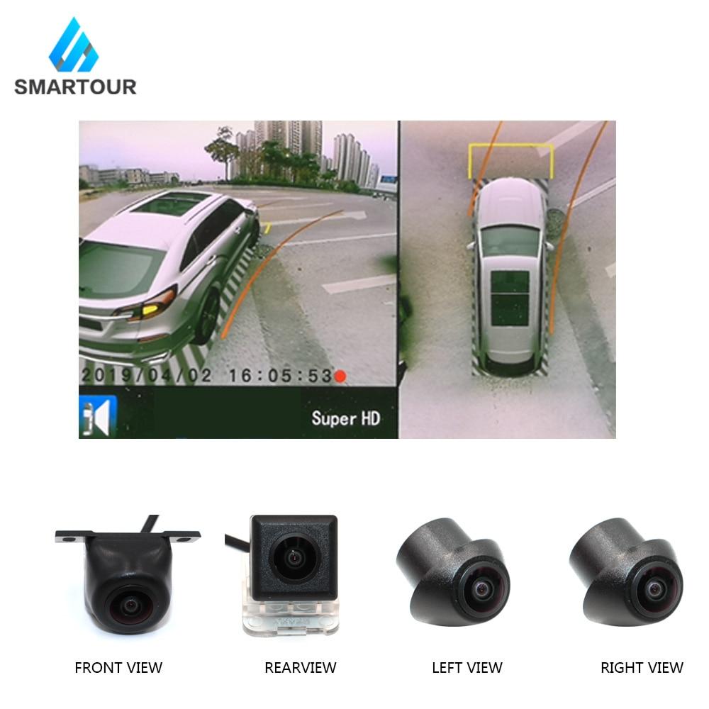 Smartour carro 3d 360 surround view sistema de condução com visão de pássaro panorama sistema 4 câmera do carro 1280 p dvr g-sensor
