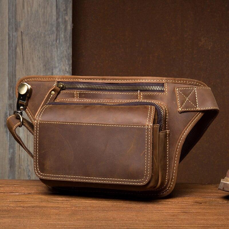 2019 мужская сумка пояс поясная сумка для телефона кошелек на молнии поясная сумка из натуральной кожи Мужские поясные сумки дорожные нагрудные сумки banane Sac