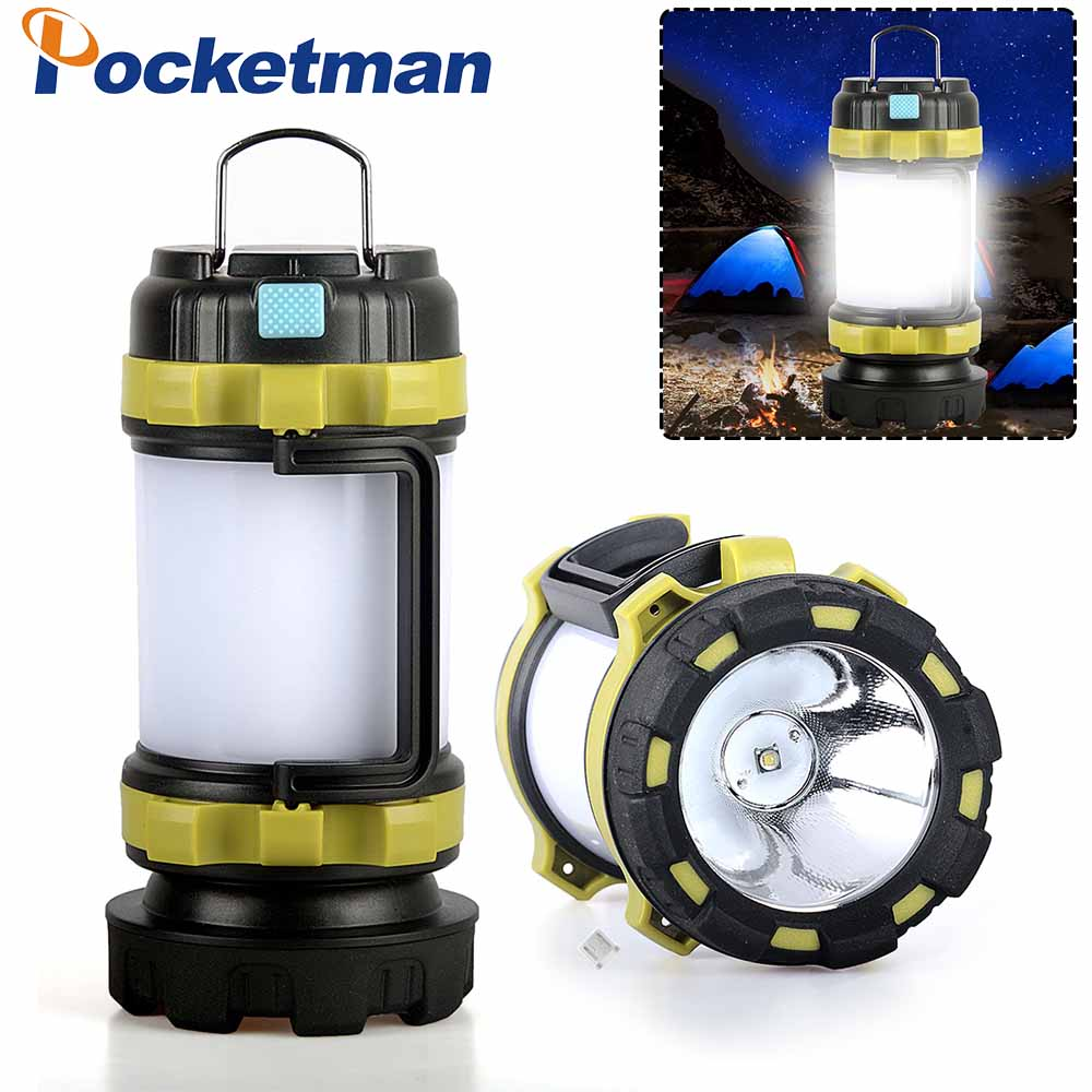 4800LM LED Camping Lantern USB Rechargeable Flashlight Lantern for Hurricane Emergency Hiking Fishing Includes Batteries