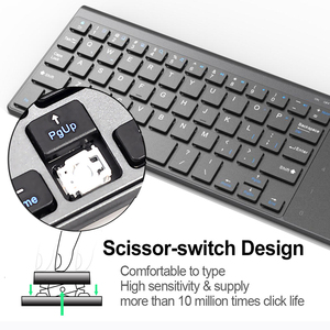 Image 4 - Jelly Comb Wireless Keyboard with Number Touchpad for Notebook PC Smart TV YR Thin USB Wireless Mini Keyboard Spanish Russian