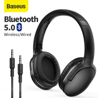 Baseus D02 Pro 무선 헤드폰 Bluetooth 이어폰 5.0 접이식 헤드셋 스포츠 헤드폰 게임 폰 Fone Bluetooth 이어 버드
