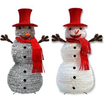 Christmas Collapsible Tinsel Santa Claus Snowman Christmas Tree For Kid Xmas Tree Ornament Holiday Christmas Decorations