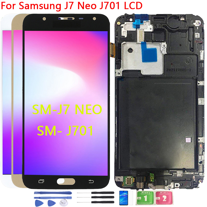 AAA Quality J701 LCD For SAMSUNG Galaxy J7 Neo LCD Display J701 J701F J701M J701MT Touch Screen LCD Assembly Replacement Parts