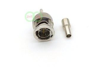 100-1000высокотемпературное сопротивление 75 Ом медь BNC штекер обжимной LMR100 RG316 RG179 кабель адаптер
