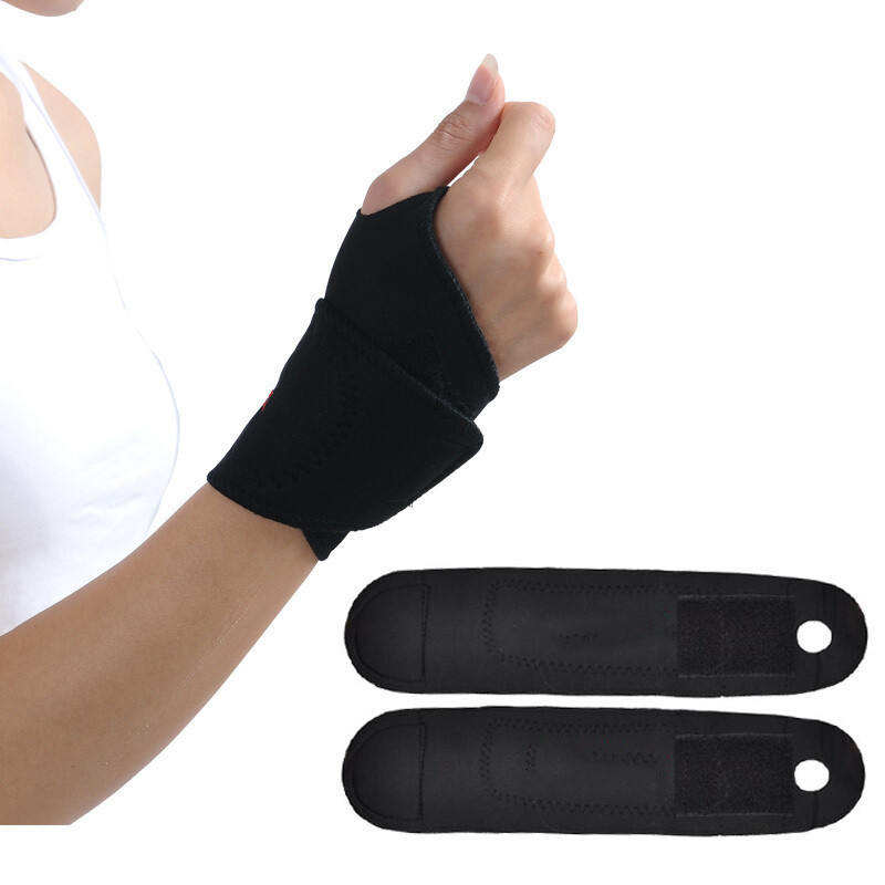 1Pair Self-heating Magnet Wrist Support Brace Guard Protector Men Winter Keep Warm Band Sports Sale Tourmaline Product Wristband