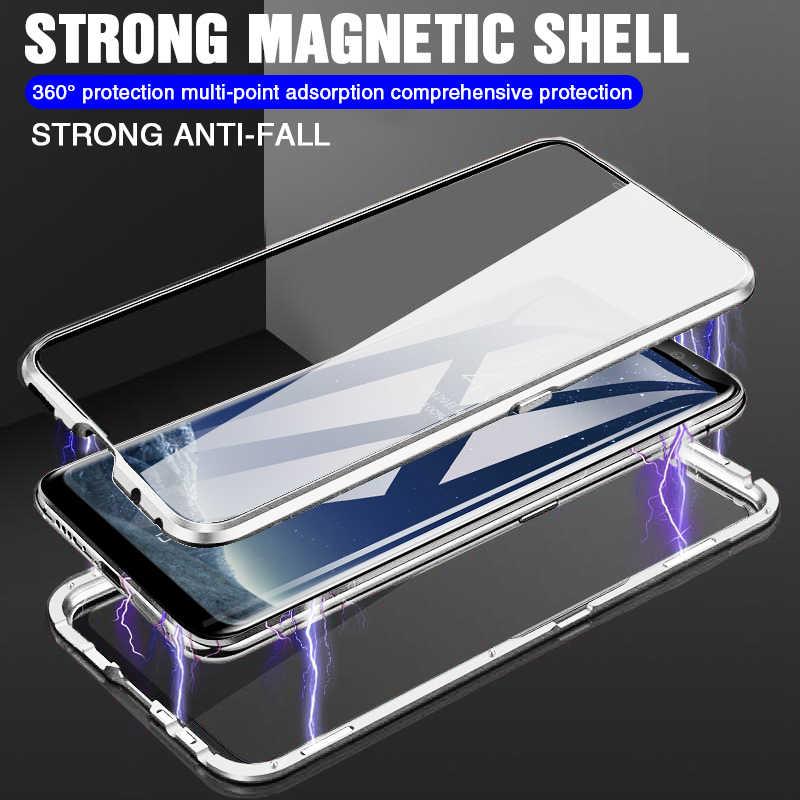 Магнитный чехол для samsung Galaxy A50 A30 A20 A10 S8 S9 S10 плюс S10E Note 8 9 M10 M20 M30 закаленное Стекло задняя магнит