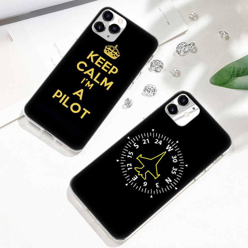 Hot Aereo fly viaggio Pilota Aereo Molle della Cassa Del Silicone per il iPhone di Apple 11 Pro XS Max X XR 6 6s 7 8 Più di 5 5s SE di Modo Della Copertura