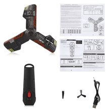 2,4G UFO Boomerang avión creativo Mini Drone RC Quadcopter juguete de Control remoto recargable con luz Flash(China)