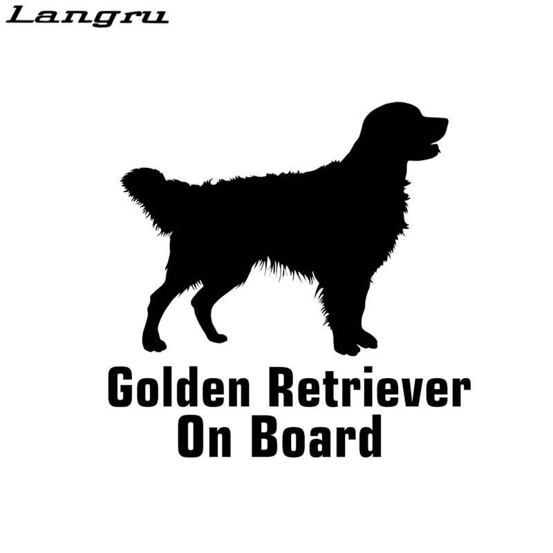 Langru 15*15.3cm Golden Retriever kurulu araba Sticker oto komik araba Sticker aksesuarları Jdm