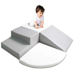 Gimnasio para bebés, habilidad motora para aprendizaje temprano, conjunto de juego de espuma para escalar y gatear, niños pequeños, tobogán para escenario, estructura de esquina, juguete preescolar
