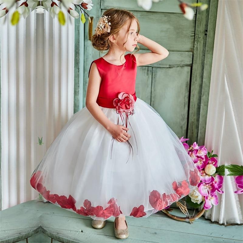 Verano niña vestido de boda Prom vestido de fiesta de cumpleaños niños flor Niñas Ropa traje niños vestidos para Niñas 4 10Yrs