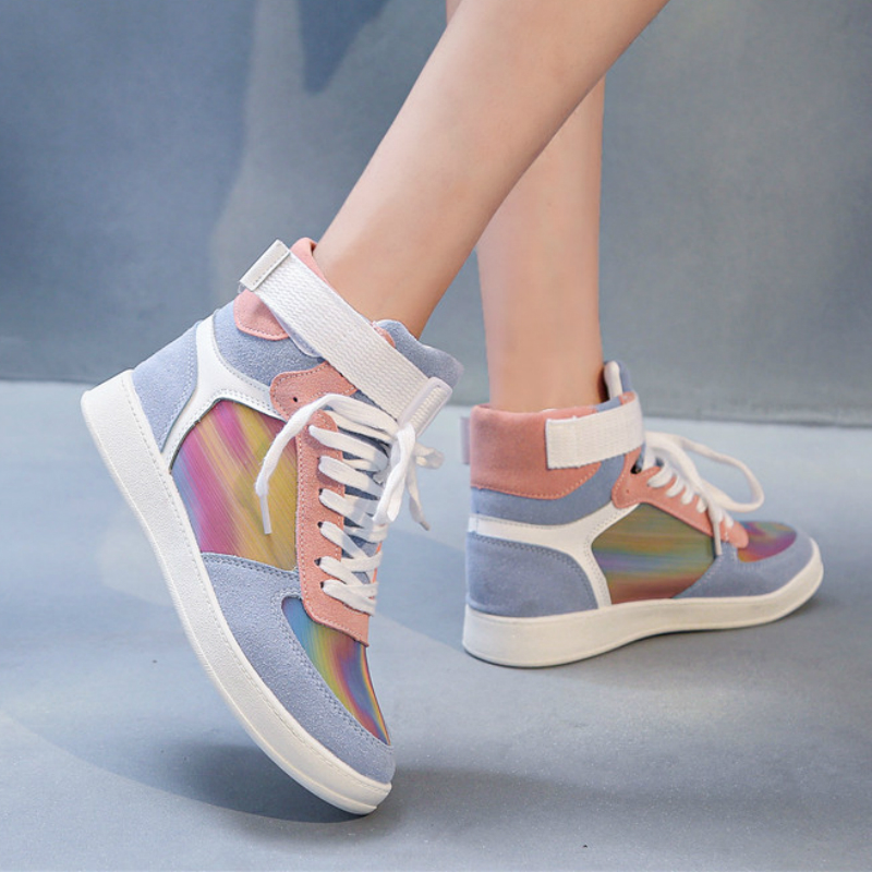 Mlcriyg Women's Fashion Casual Shoes High Top Sneaker 2020 New Women Running Shoes High Quality Non-slip Walking Shoe Zapatillas