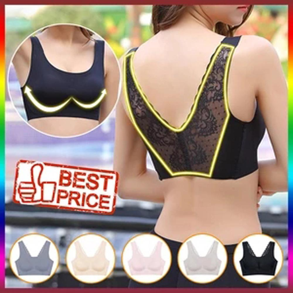 Fashion Women Seamless Lace Beauty Back Peace Sleep Underwear Without Rims Breathable