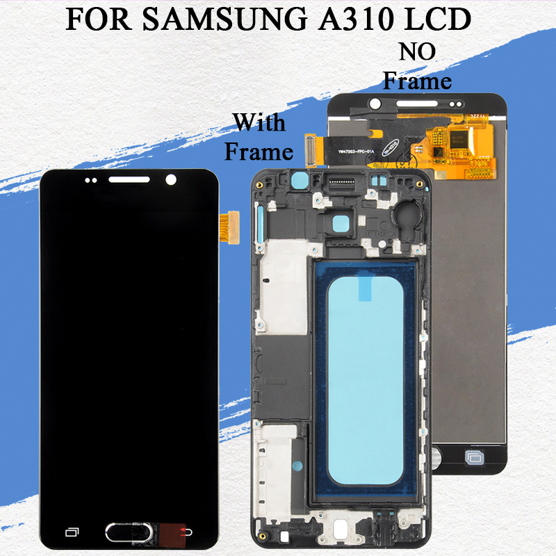 Dinamico A3 2016 Display Für Samsung Galaxy <font><b>A310</b></font> <font><b>Lcd</b></font> A310F Display Mit Touch Panel Screen Digitizer Montage Mit Tools image