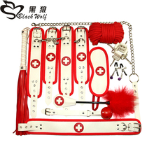 10pcs/7pcs Sex Toys Couples Exotic BDSM Sex Bondage Set Nurse Cosplay Erotic Accessories Handcuffs Whip Rope Adult Games