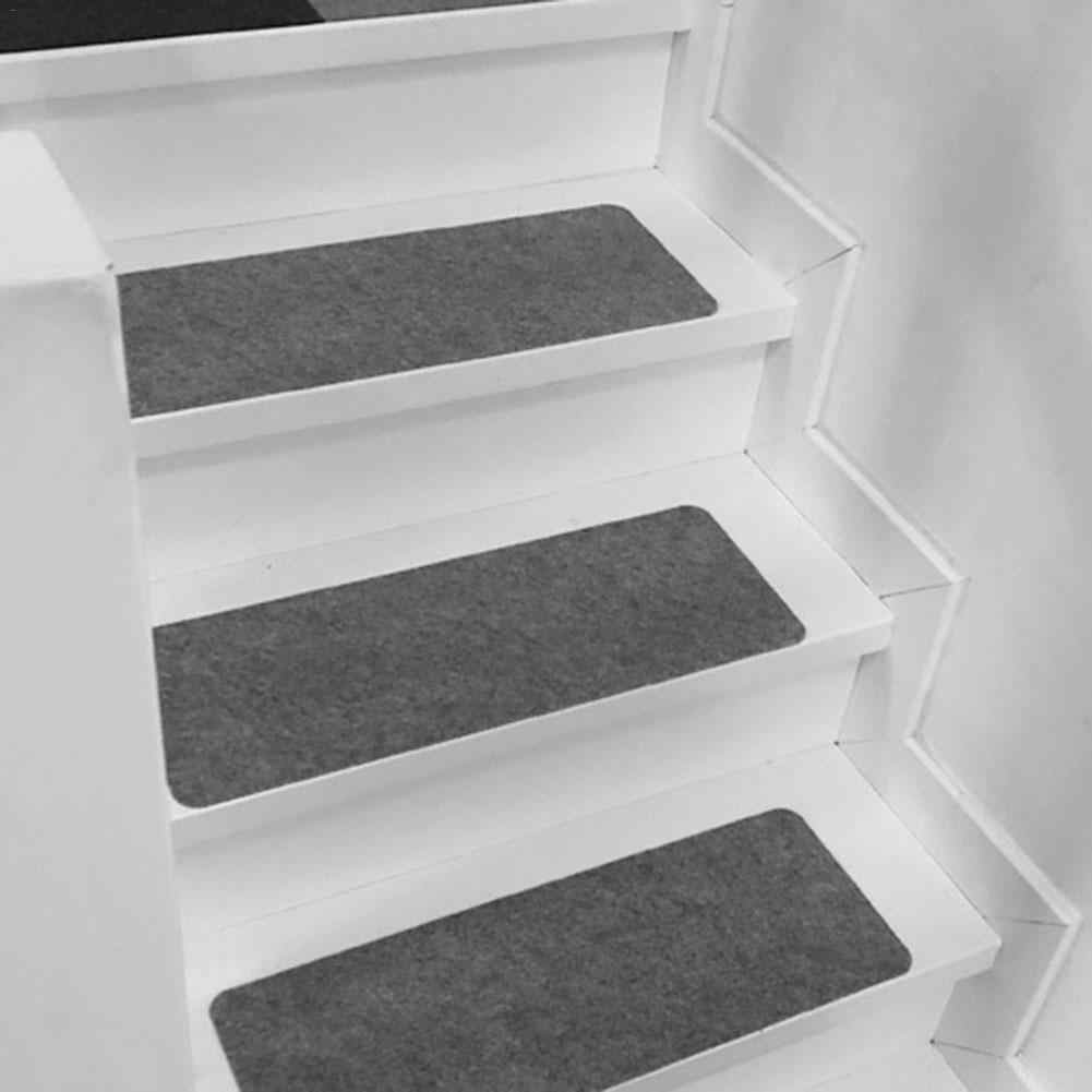 Stair Tread Carpet Mats Self Adhesive Stair Mat Non Skid Stair   Washable Carpet Stair Treads   Removable Washable   Machine Washable   Rubber Backing   Slip Resistant   Self Adhesive