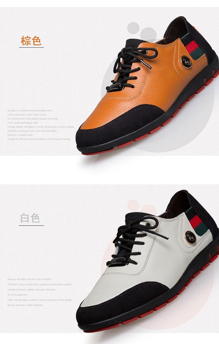 Homens Sapatos de Golfe de Couro Dos
