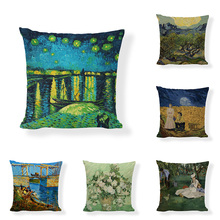 Hand-painted vintage landscape country…