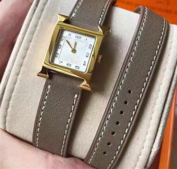 Fashion Double Layer Genuine Leather Watch Luxury Brand Watch Roman Nomor Waistwatch untuk Gadis Wanita Hadiah