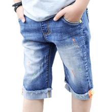 5 do 14 lat chłopięce spodenki jeansowe nastolatki chłopięce spodenki letnie dziecięce kowbojskie dorywczo krótkie spodnie chłopięce spodenki jeansowe spodnie dziecięce chłopięce tanie tanio OBOVATUS spandex COTTON Szorty Pasuje prawda na wymiar weź swój normalny rozmiar Chłopcy Boys Denim Shorts Na co dzień