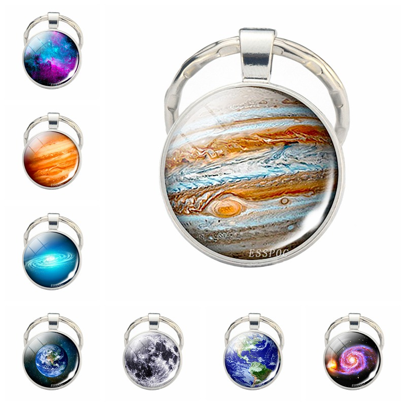 Jupiter Pendant Jupiter Keychains Jupiter Jewelry Key Rings  Galaxy Universe Space Planet Solar System Key Chain Christmas Gift
