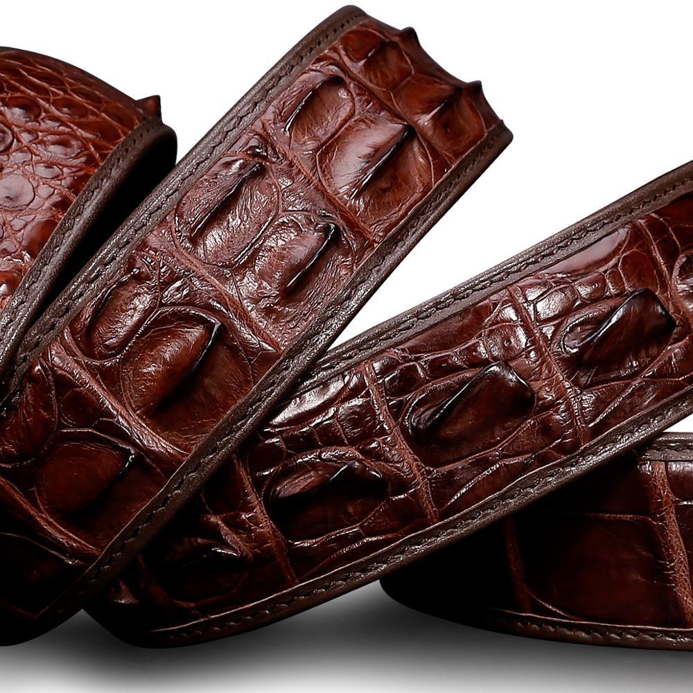 Männer Krokodil Leder Gürtel Heißer Designer Gürtel Männer Luxus Strap Mode Vintage Glatte Schnalle Gürtel - 5